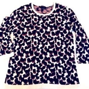 Ann Taylor leopard print sweater - size S